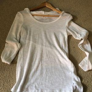 Junior's White Long Sleeved Shirt